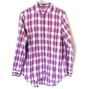Madewell Button up Flannel plaid